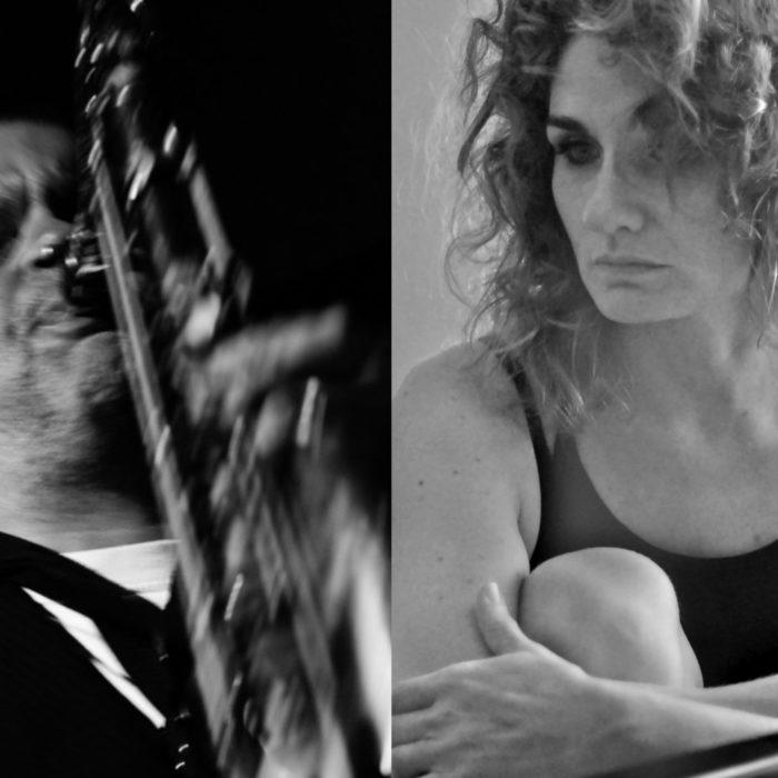 Dirk Raulf, Saxophone, Bassklarinette und Oona Kastner, Stimme, Piano, Keyboard, Tasten